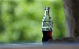 Preview wallpaper Half bottle of Coca-Cola
