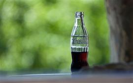 Half bottle of Coca-Cola