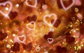 Preview wallpaper Love hearts, glare, hazy, shine