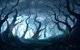 Preview wallpaper Magic forest, art picture