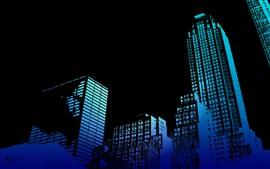 Небоскребы, здания, черный фон, креативный дизайн