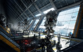 Preview wallpaper Titanfall, soldier and robots, PC game