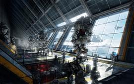 Aperçu fond d'écran Titanfall, soldat et robots, jeu PC