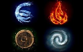 壁紙のプレビュー 水、火、土、風、創造的な写真
