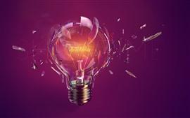 壁紙のプレビュー 電球、壊れた、ガラス、創造的な写真