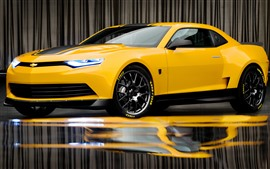Preview wallpaper Chevrolet yellow supercar, bumblebee