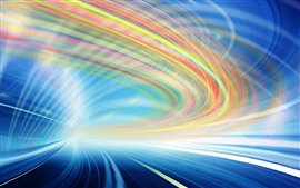 Preview wallpaper Colorful curves, light lines, abstract picture