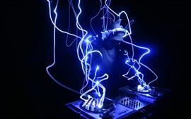 DJ, neón, imagen creativa.