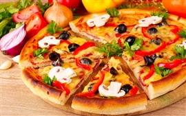 Pizza deliciosa, fast food
