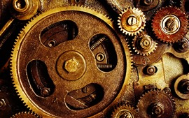 Preview wallpaper Gears, machine, oil