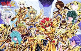 Preview wallpaper Gold Saint, classic anime, shine