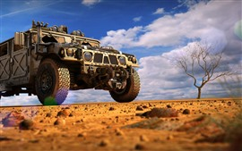 Preview wallpaper Hummer car, desert