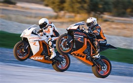 Preview wallpaper KTM motorcycles, race