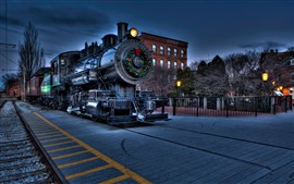 Preview wallpaper Locomotive, train, night