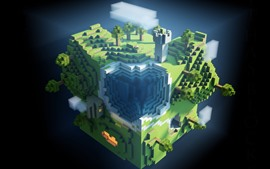 Preview wallpaper Minecraft, plants, game