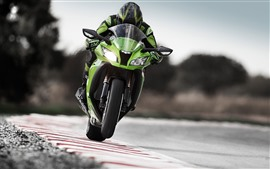 Preview wallpaper Motorcycle racing, front view