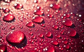 Preview wallpaper Red background, water droplet