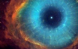 Space, eye, nebula, stars