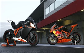 Preview wallpaper Two KTM motorcycles