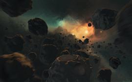 Vorschau des Hintergrundbilder Universum, Steine, Galaxie, Sterne