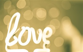 Preview wallpaper White neon light, love