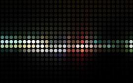 Абстрактные красочные шары, светлая точка