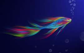 Beautiful fish, rainbow, abstract