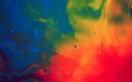 Preview wallpaper Colorful paint, red, green, blue, abstract