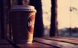 Copo, café, mesa