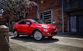 FIAT red SUV car