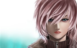Preview wallpaper Final Fantasy XIII, pink hair girl, blue eyes