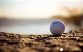 Мяч для гольфа, земля, туман