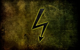 Lightning arrow, creative picture