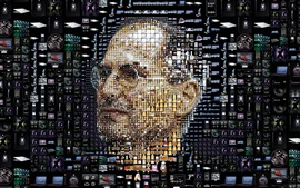 Preview wallpaper Steve Jobs, face, creative picture