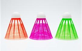 Aperçu fond d'écran Badminton trois couleurs