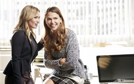 Preview wallpaper Two blonde women, office