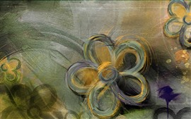 Preview wallpaper Abstract flowers, art painting