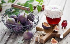 Aperçu fond d'écran Figues, confiture, fruits