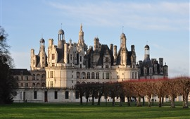 Preview wallpaper France, Chambord Castle, trees, meadow