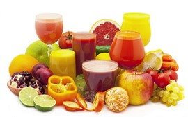 Preview wallpaper Fruits, juice, apple, orange, lemon, grape