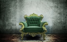 Preview wallpaper Green sofa, still life