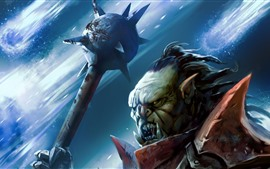 Preview wallpaper Monster, warrior, fangs, art picture