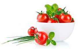 Preview wallpaper One bowl of tomato, white background