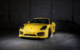 Preview wallpaper Porsche yellow supercar front view, car