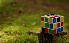 Preview wallpaper Rubik's cube, colorful, stump