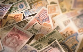 Preview wallpaper Some money, currency, hazy