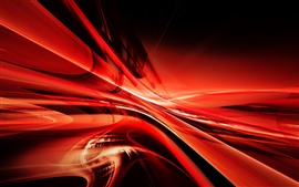 Preview wallpaper Abstract red lines, curve