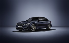 Preview wallpaper BMW M3 black car side view