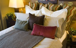 Preview wallpaper Bed, some pillows