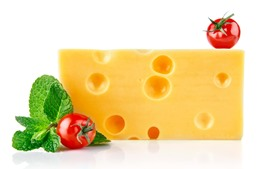 Preview wallpaper Cheese, tomatoes, white background